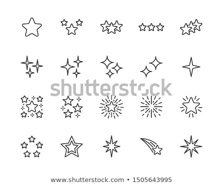 Bright star. Vector illustration.  Stock photo © gladiolus