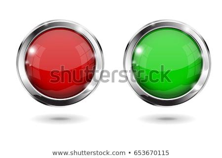 plastica · potere · pulsanti · bianco · simbolo · verde - foto d'archivio © timurock