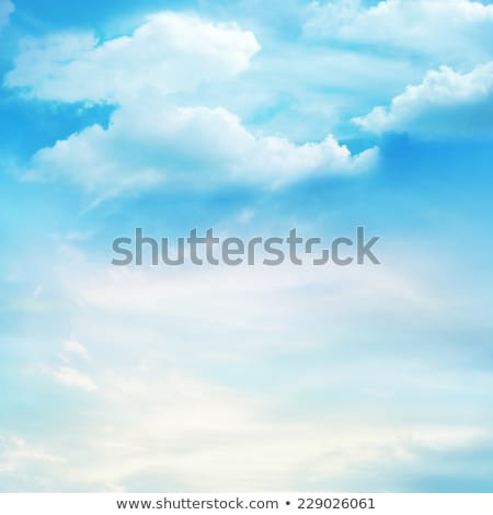 Beautiful blue sky with clouds in windy day Stock photo © BSANI