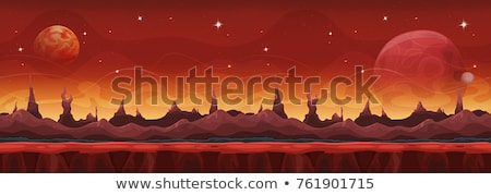 Planet Landscape In Space Stock photo © benchart