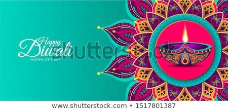 Mutlu diwali çiçek dizayn sanat yağ Stok fotoğraf © rioillustrator