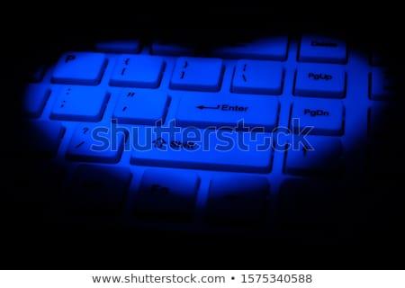 интернет знакомства синий стрелка Стрелки лозунг Сток-фото © tashatuvango