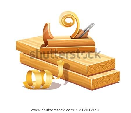 Fából készült szerszám eps10 izolált fehér textúra Stock fotó © LoopAll