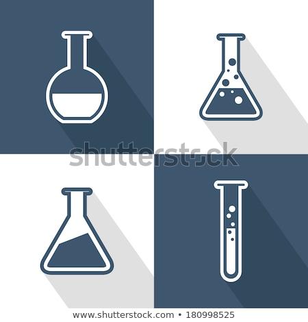 Ikon bilim şişe uzun gölge tıbbi Stok fotoğraf © wittaya