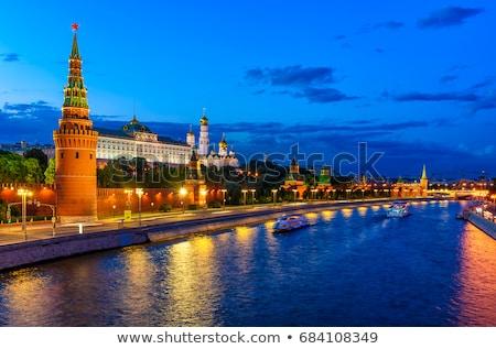 vue · Moscou · rivière · Kremlin · nuit · Russie - photo stock © mikko