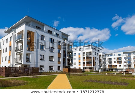 habitação · Polônia · ver · blocos · cidade · edifício - foto stock © remik44992