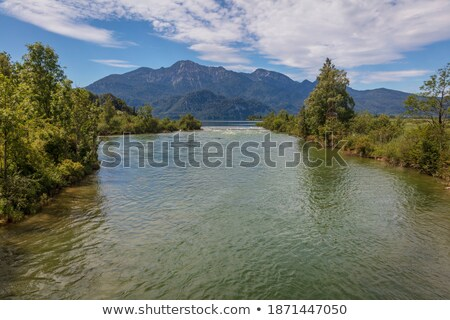 River Loisach with cloud in Bavaria Stock photo © w20er