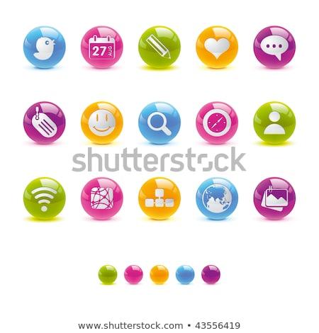 vetor · botão · negócio · tecnologia - foto stock © rizwanali3d
