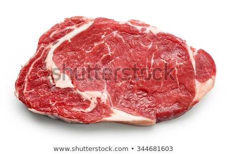 Crudo carne de vacuno solomillo primer plano aislado blanco Foto stock © OleksandrO
