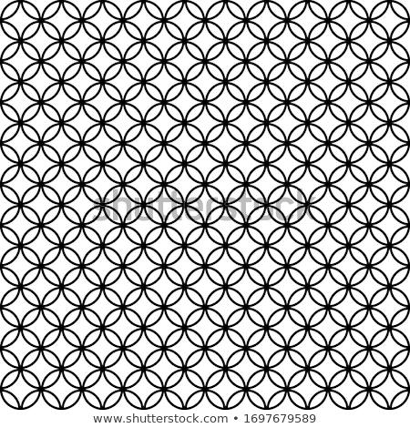 Monochrome pattern with many intersecting circles Stock photo © Zebra-Finch