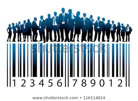 штрих стекла бизнеса информации продажи изучения Сток-фото © fuzzbones0