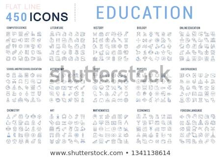 Conjunto escolas equipamento colorido ícones Foto stock © Voysla