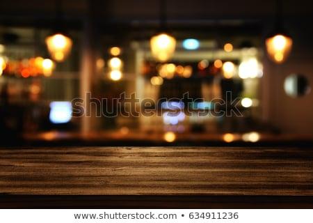 Ristoranti Blur sedia tavolino da caffè servizio negozi Foto d'archivio © scenery1