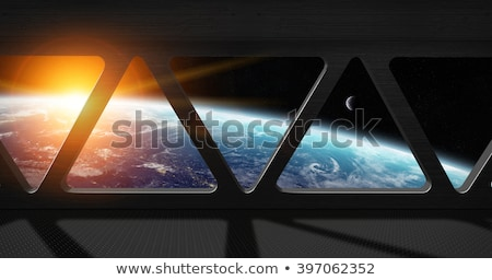 Fictional universe with space ship Stock photo © w20er