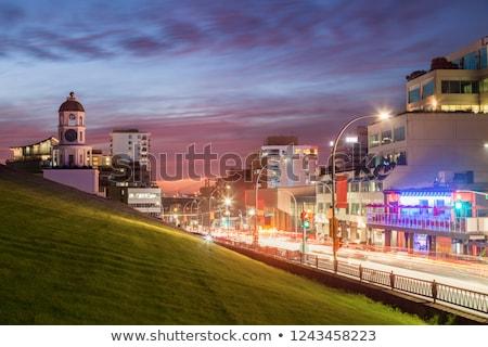 сумерки Запад Йоркшир здании закат дизайна Сток-фото © chris2766