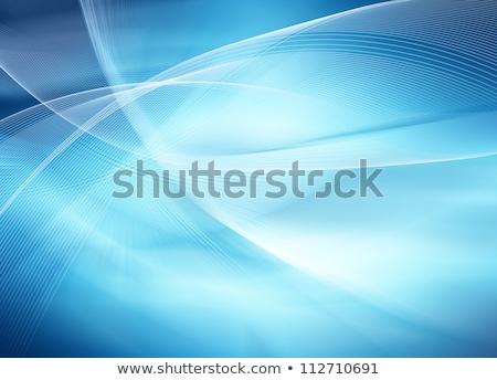 Abstrato azul redemoinho vetor ondulado linhas Foto stock © Kheat
