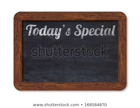 A chalkboard sign on a white background - Todays Specials Stock photo © Zerbor