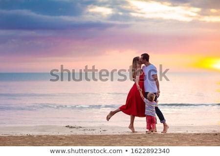 little girl on walk Stock photo © phbcz