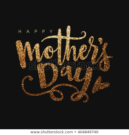 Happy Mother's day card in gold  Stock photo © shawlinmohd