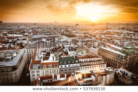 Stock photo: Aerial View Of Vienna City Skyline