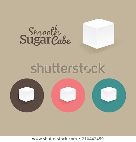 witte · suiker · kubus · een · bed - stockfoto © devon