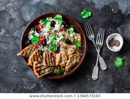 roasted chicken with olives stock photo © zhekos
