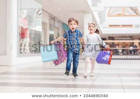 Children and shop Stock photo © bluering