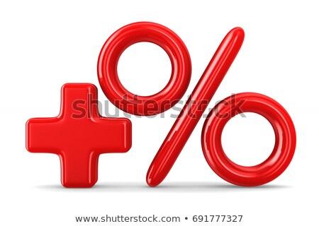 3d red percent increase stock photo © oakozhan
