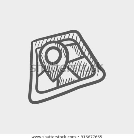 localização · ícone · pesquisar · projeto · isolado · ilustração - foto stock © rastudio