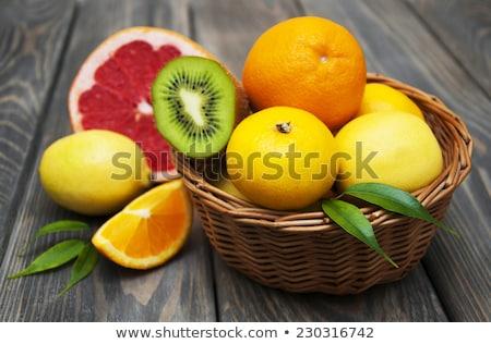 Basket Of Citrus Fruit Foto d'archivio © Es75