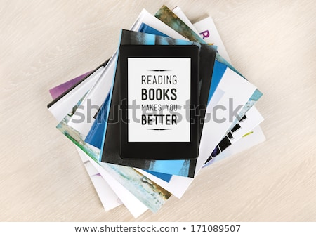 Ebook lector libros Screen blanco Foto stock © Koufax73