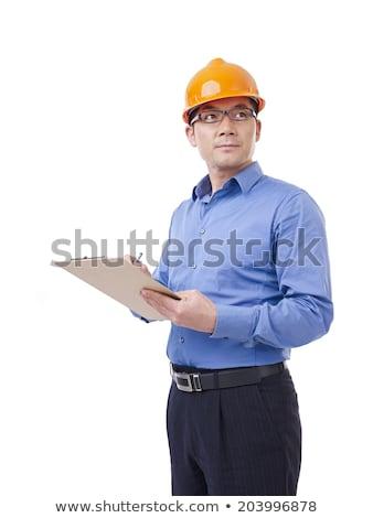 Construcción supervisor aislado blanco negocios edificio Foto stock © Elnur