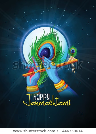 krishna · texto · significado · feliz · festival · ilustração - foto stock © vectomart