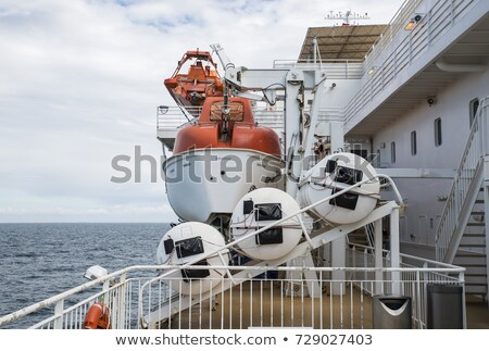 lifeboat on a cruide ship on the sea Stock photo © compuinfoto