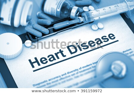 Diagnosis - Angina. Medicine Concept. 3D Illustration. Stock photo © tashatuvango