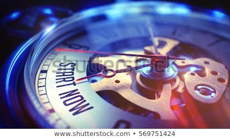 Positividad texto reloj de bolsillo 3d ver cara Foto stock © tashatuvango