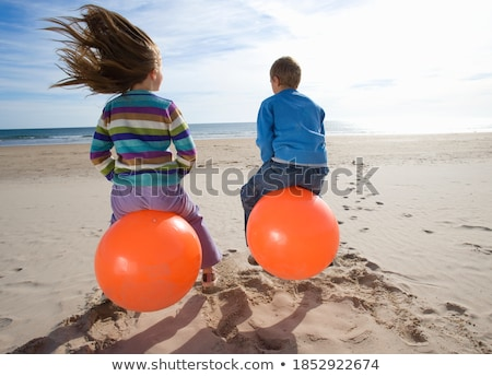 boy bouncing on space hopper Stock photo © IS2