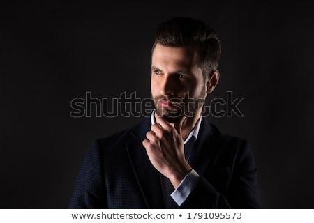 моде · выстрел · элегантный · молодым · человеком · костюм - Сток-фото © svetography