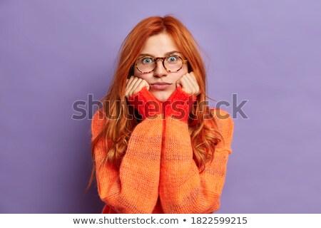 困惑 女士 毛線衣 圖像 年輕 商業照片 © deandrobot