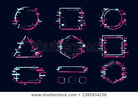 Geométrico formas establecer plantilla azul púrpura Foto stock © romvo