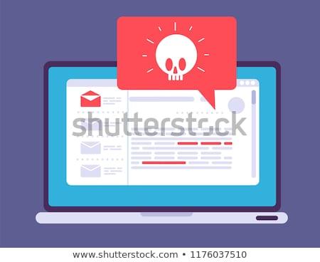 Internet saldırı işaretleri simgeler ayarlamak 10 Stok fotoğraf © derocz