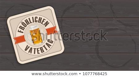 Beer Coaster Froehlichen Vatertag Transparent Stock photo © limbi007