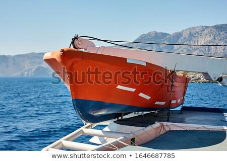 судно · оранжевый · выживание · сидеть · палуба · промышленных - Сток-фото © tracer
