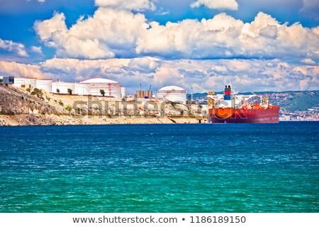 île · vue · énergie · port · Croatie · affaires - photo stock © xbrchx