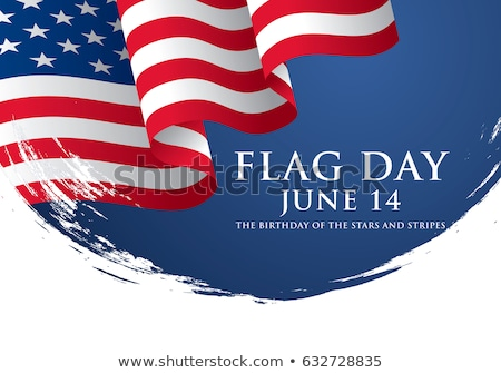 happy flag day celebration vector illustration stock photo © robuart