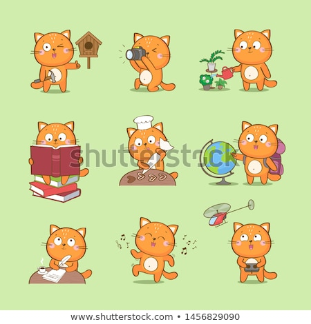 Cartoon Cat Crafts Stock photo © cthoman