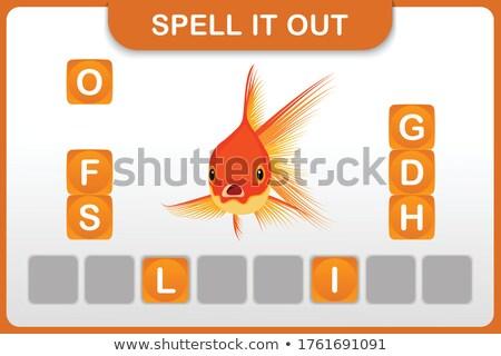 заклинание из Goldfish иллюстрация рыбы дети Сток-фото © bluering