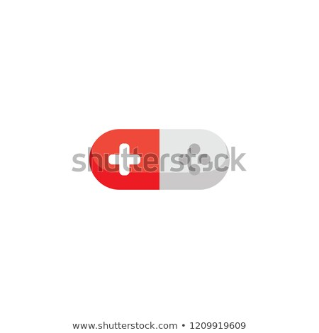red white joystick game console pill medicine Stock photo © vector1st