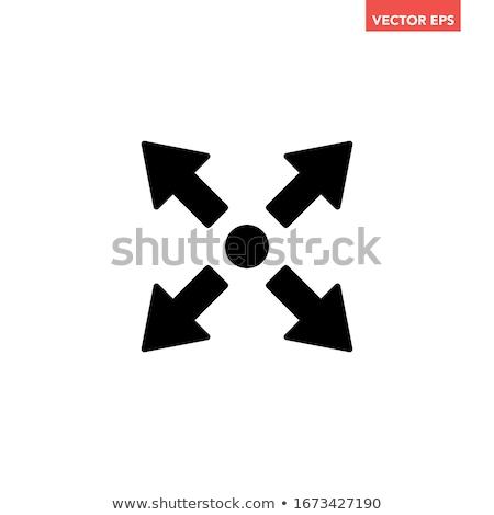 矢印 ベクトル アイコン デザイン シンボル クロス ストックフォト © blaskorizov
