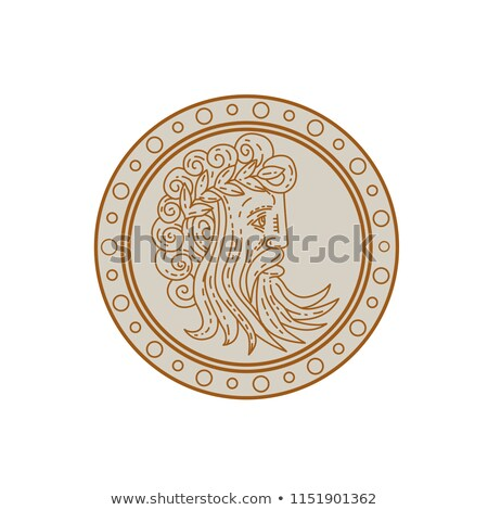 Jupiter God of Light and Sky Mono Line Stock photo © patrimonio